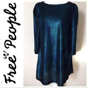 FREE PEOPLE Mermaid Holographic Mini DRESS